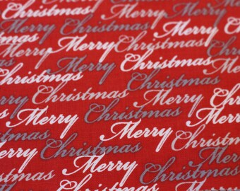 Christmas Dreams by Ivy Lane for Quilting Treasures Quilt Fabric Script A150  Sold by the Half Yard