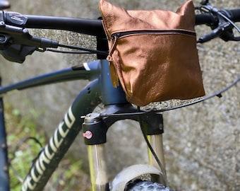 Handlebar bike bag 100% Leather