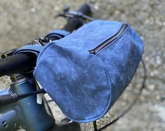 Handlebar bike bag Oil Cloth
