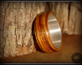 """Bentwood Ring - """"Zebrano"""" African Zebrawood - custom handcrafted steam bent wood rings - durable, unique, one-of-a-kind wearable art."""