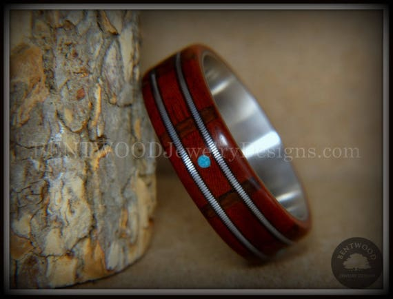 Brazilian cherry and padook with copper inlay ring Available all sizes US.