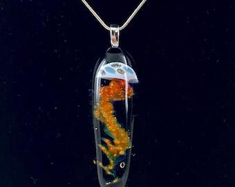 Glass Jellyfish Pendant Specialized Technique