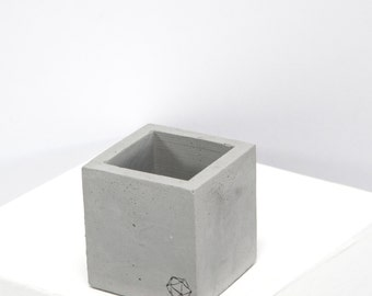 Concrete Geometric Original mini cube Grey
