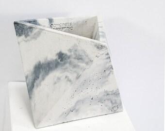 Concrete Geometric Original Medium Octahedron vessel marble