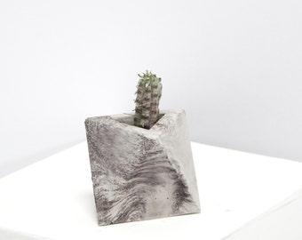Mini Concrete Geometric marble octahedron
