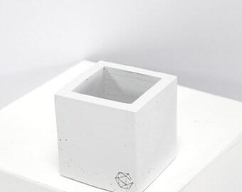 Concrete Geometric Original mini cube White