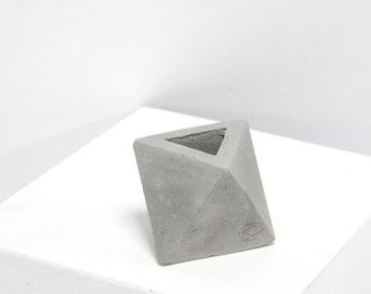 Mini Concrete Geometric Grey Octa
