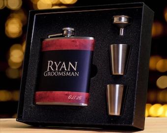 Groomsmen Gift Set, Gifts for Groomsmen, Flasks for Men