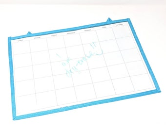 Dry-Erase Calendar - Incentive & Chore Calendar - Double-sided, flat, solid surface on one side,  24 pockets on other side, Advent Calendar