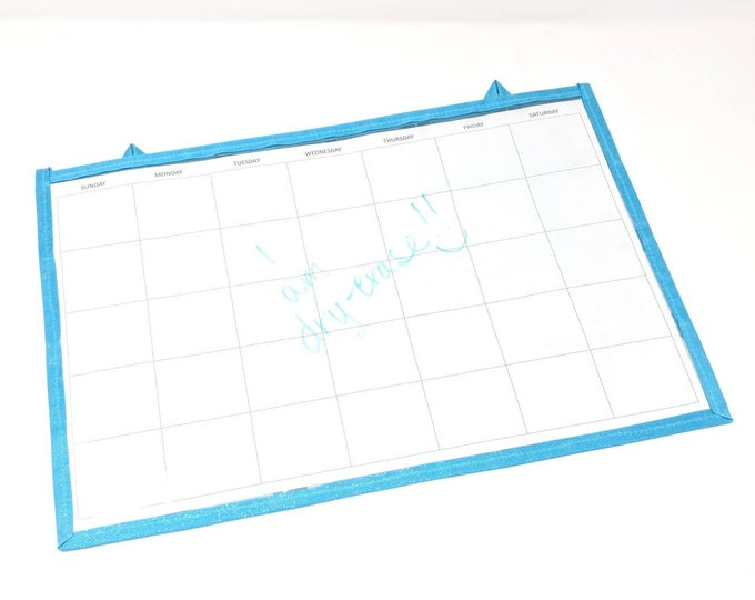 Featured listing image: Dry-Erase Calendar - Incentive & Chore Calendar - Double-sided, flat, solid surface on one side,  24 pockets on other side, Advent Calendar