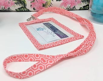 Badge Holder Lanyard Portrait - Custom - Lanyard - ID and Name Pouch Badge Holder