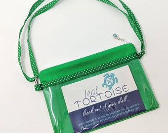 Hip sling Green/Tropical - adjustable - 3-way Hip Sling - fanny pack, crossbody and over the shoulder