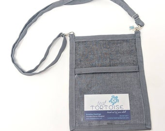 Lanyard Pouch Gray/Hex - adjustable - 4-way Hip Sling - fanny pack, crossbody, lanyard and over the shoulder
