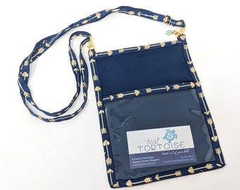 Lanyard Pouch Navy/Arrow - adjustable - 4-way Hip Sling - fanny pack, crossbody, lanyard and over the shoulder