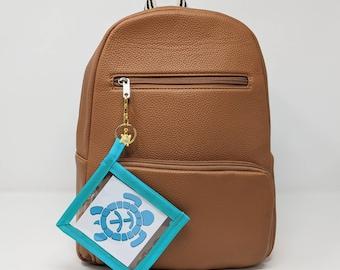 Keyring Business Card Holder - Square - Business Card Pouch - Business Product, Business card holder with Lobster Clasp