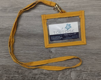 Lanyard - Landscape - ID and Vaccine Badge Holder - Detachable