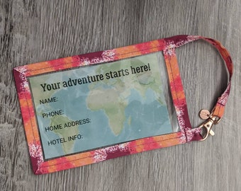 """Travel Luggage Tag - 3"""" x 5"""" - Luggage Tag - Includes Information Insert"""