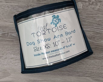 Dog Show Armband - Elastic Armband - dog show number holder with bait pocket on back