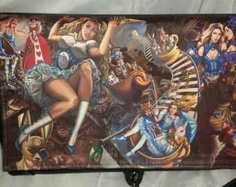 Alice in Wonderland Steampunk Themed - Sandra Chang-Adair (Licensed) handbag with adjustable shoulder strap