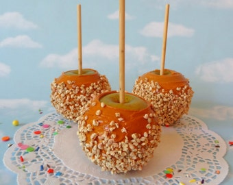 Faux Fake Realistic Caramel Apple with Nuts Home Decor Photo Prop