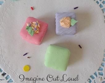 FAUX PETIT FOUR Fake Mini Cakes Tea Party Food Prop Photo Kitchen Decor