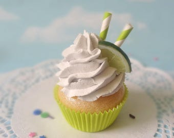 Fake Cupcake Handmade Faux Key Lime Slice