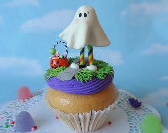 Fake Cupcake JUMBO Halloween Ghost Trick or Treater Display Decor