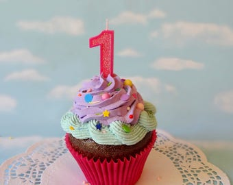Fake Cupcake Jumbo First Birthday Photo Prop Centerpiece Gift
