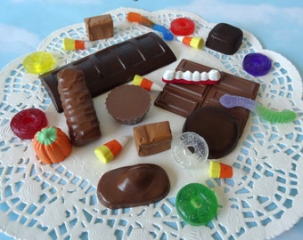 Handmade Fake Halloween Candy SET A Holiday Faux Candies Bowl Filler Display Prop