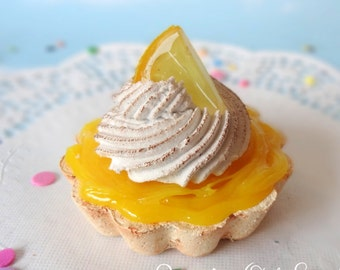 Fake Cake Tart Tartelette Mini Dessert Lemon Meringue  SINGLE