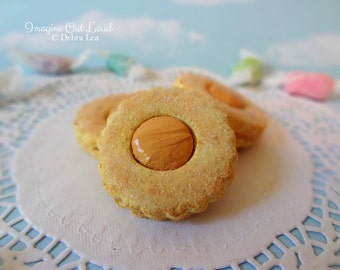 Fake Cookies Peanut Butter Sandwich Linzer Tart Round