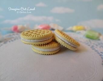 Fake Cookies Three Faux Vanilla Cream Filled Sandwich Cookies