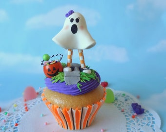 Fake Cupcake JUMBO Halloween Girl Ghost Trick or Treater Display Decor