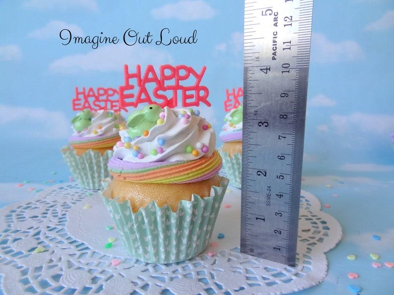 Fake Cupcake Spring Happy Easter Bunny Rabbit Home Decor
