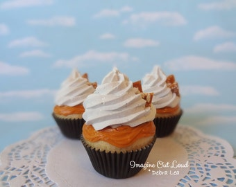Fake Cupcake Caramel Brittle Butterscotch Toffee Faux Cake