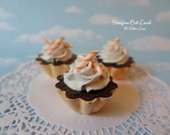 Fake Cake Tart Tartelette Mini Dessert Orange Chocolate Cream SINGLE
