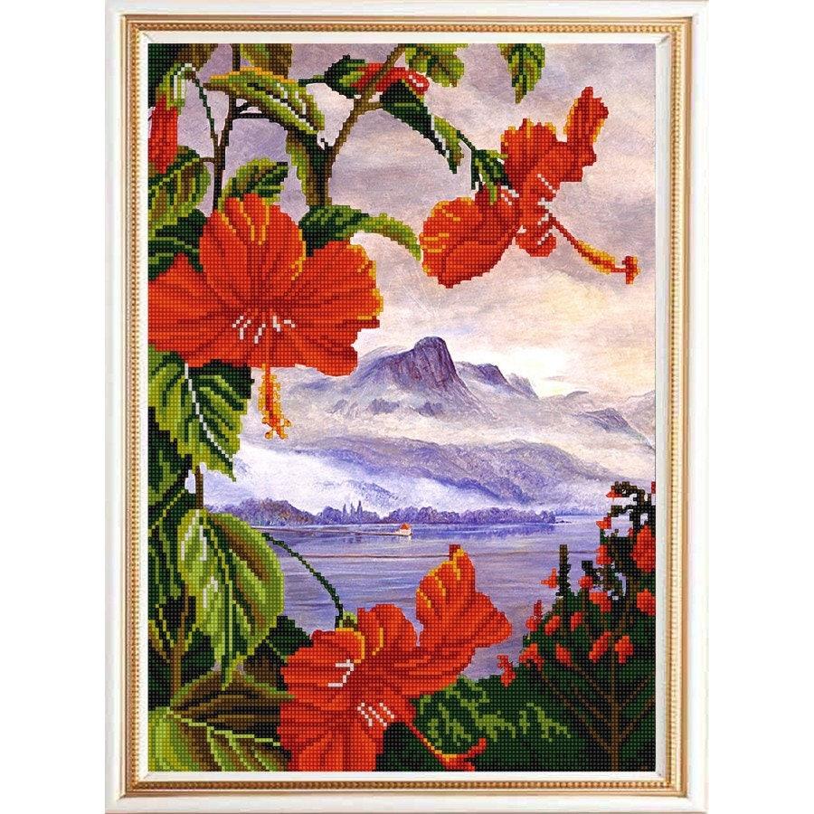Ensemble exotique fleurs fleurs fleurs perle broderie kit bricolage couture broderie perlée broderie Beadpoint couture bricolage loisirs créatifs 755c9a