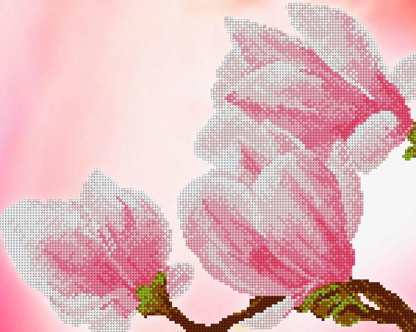 Magnolia Magnolia Magnolia perle bricolage broderie kit mural art idée cadeau déco pour artisan couture broderie de perles à coudre Hobby Craft set peinture perlée 9c26f7