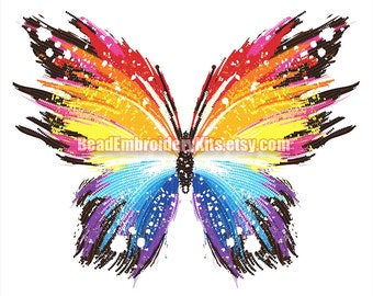 Rainbow Butterfly bead embroidery craft set beaded painting DIY beading kit