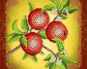 Kitchen Decor Bead embroidery kit Housewarming Gardener gift Idea DIY Needlework Beadwork Sewing Needlepoint hobby set Fengh Shui Prosperity