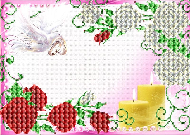 Mesures mémorable de mariage cadeau cadeau cadeau kit de broderie de perle bricolage perles peinture tapisserie beadpoint broderie perlée couture craft ensemble 7b5765
