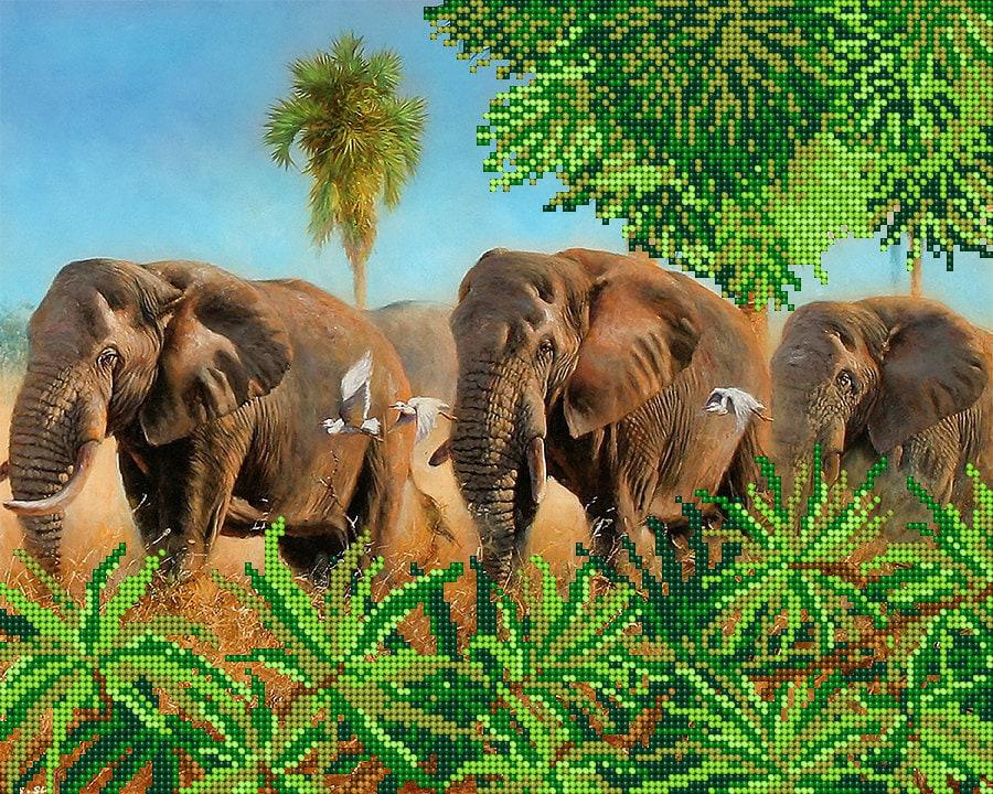 Les éléphants perle perle perle kit de broderie, brodé perlé peintures, décoration murale bricolage, couture broderie perlée tapisserie à l'aiguille à coudre hobby 291240