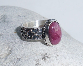 Medici. Maria - OOAK sterling silver with natural tourmaline ring