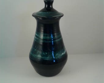 Blue Vase with Top