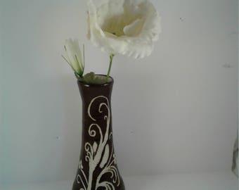Tall Carved Bud Vase