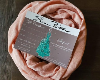 Gift for Her Set - 500 Dollar Gift Certificate and FREE infinity scarf - Design Consultation with fashion designer Shanna Britta