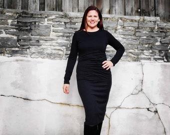 Black Sweater Dress - Custom made by Shanna Britta