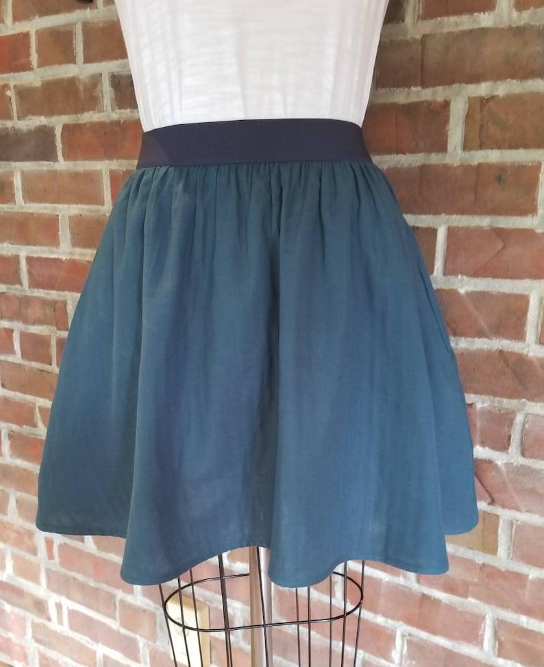 Blue Bird Maxi Length Skirt Custom Made by Shanna Britta