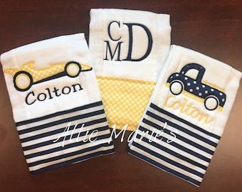 Baby Burp Cloths, Burp cloth, Burp Cloths, boy burp cloths, custom burp cloths, personalized burp cloths, monogram burp clothes, embroidered