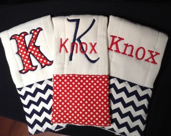 Baby burp cloths, Custom burp cloths, Monogrammed burp cloth, burp cloths, boy burp cloths, Personalized burp cloths